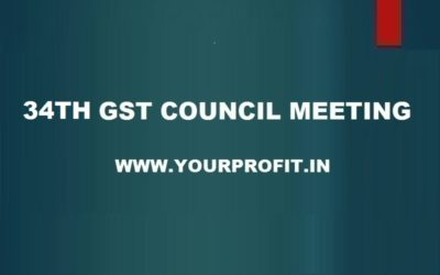 34th GST Council Meeting - yourprofit.in