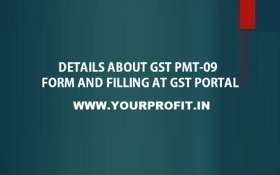 Details about GST PMT-09 form and filling at GST Portal - yourprofit.in