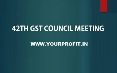 42th GST Council Meeting